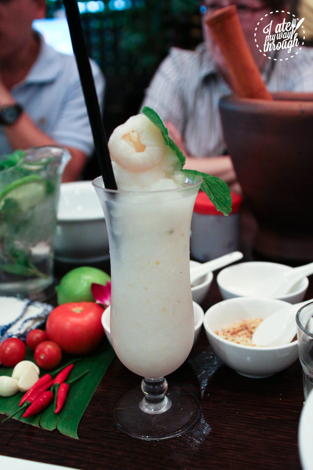 Lychee shake at Holy Basil - Lao cuisine Sydney food tour