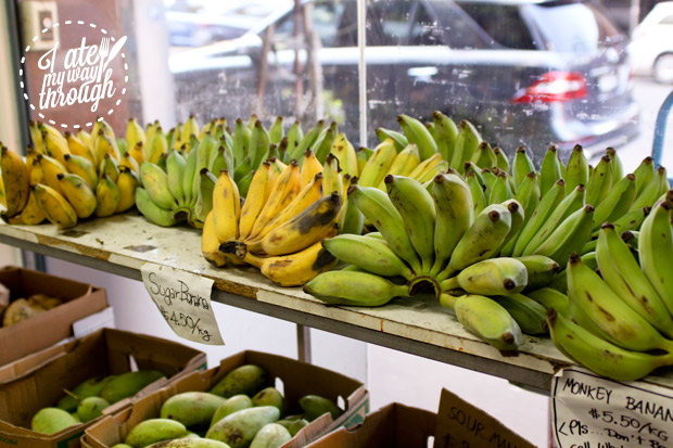 Green bananas at Thai grocer - Lao cuisine Sydney food tour
