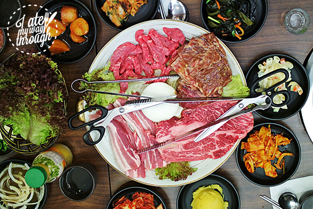 Mixed barbecue meat platter, $68