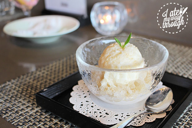 Rice Wine Sorbet - also known as sikhye ice