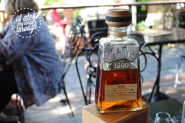 A bottle of 1800 Edicion del Nuevo Tequila