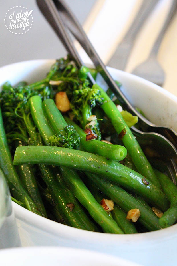 Broccolini and Beans with butter and hazelnut