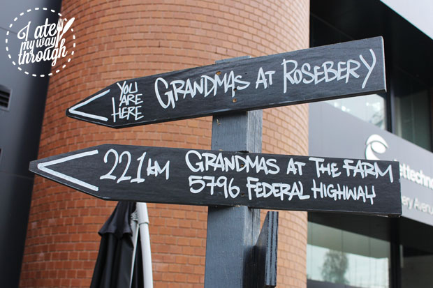 Grandma's at Rosebery and The Farm Signs