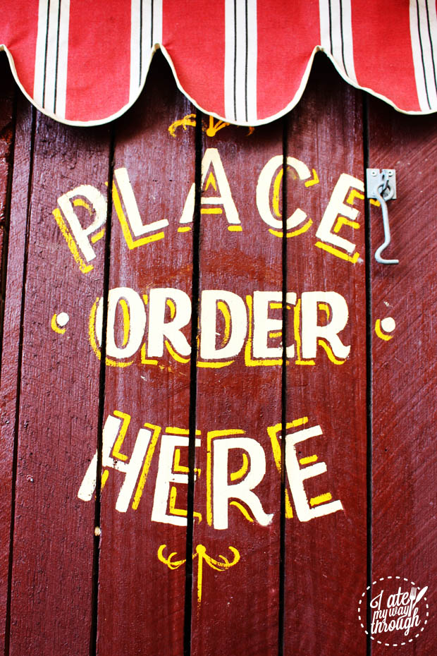 Place Order Here sign