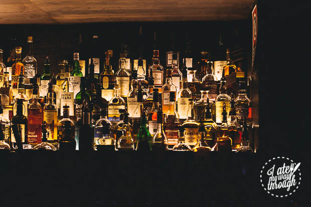The bar full of wine and spirits - The Smoking Panda
