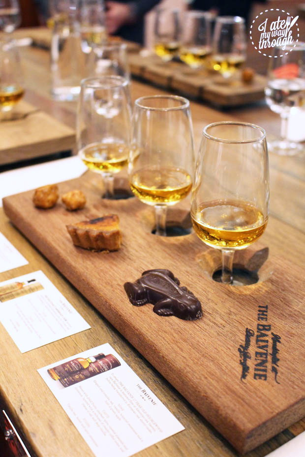 Balvenie whisky and matched desserts