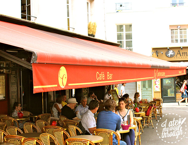 Cafe Le Contrescarpe on the Rue de Lacepede. One of Ernest Hemingway's old haunts from the 1920's.
