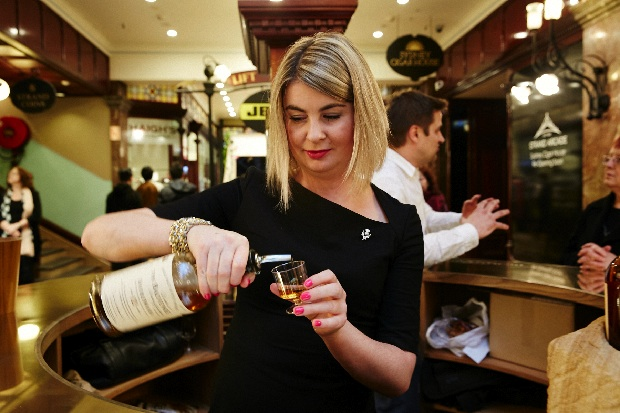 Laura Hay with Balvenie whisky