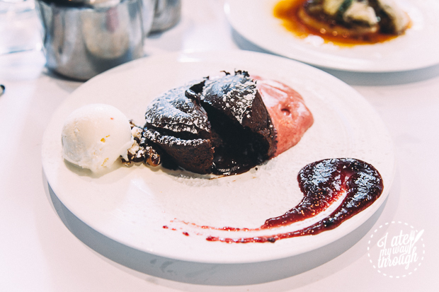 chocolate cherry fondant - barrafina tapas