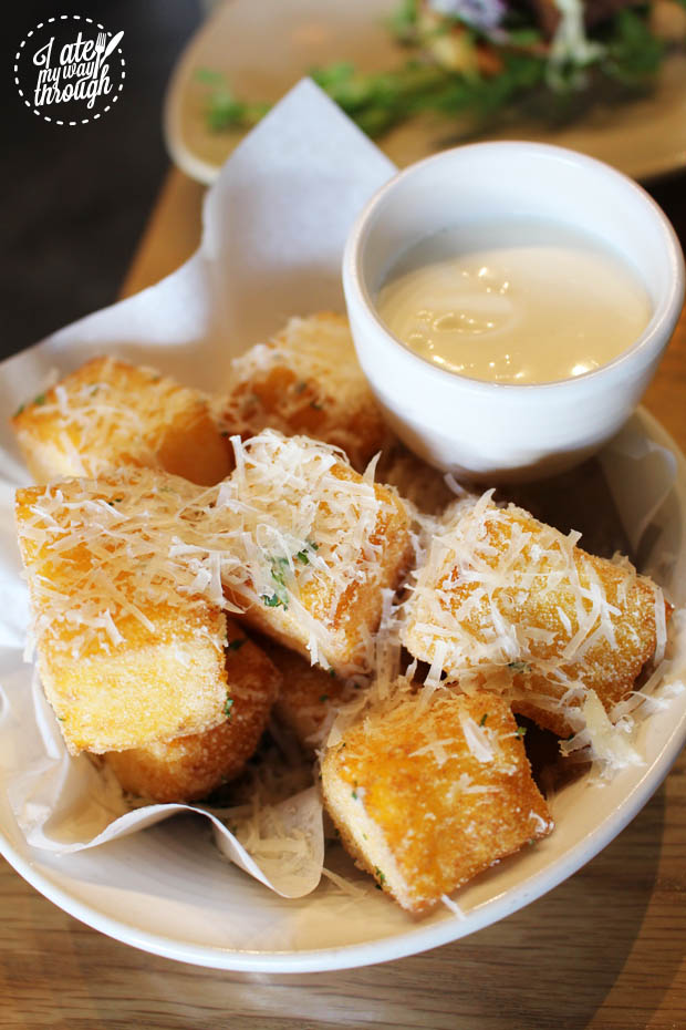 Truffled polenta chips with parmesan and aioli