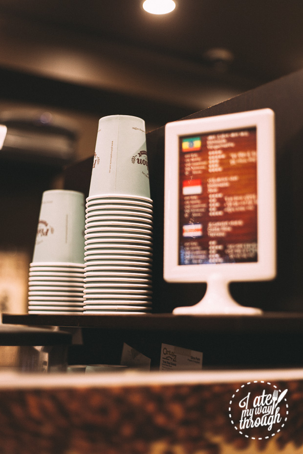 Pishon Patisserie and Cafe Eastwood, coffee cups