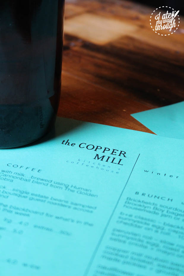 The Copper Mill menu