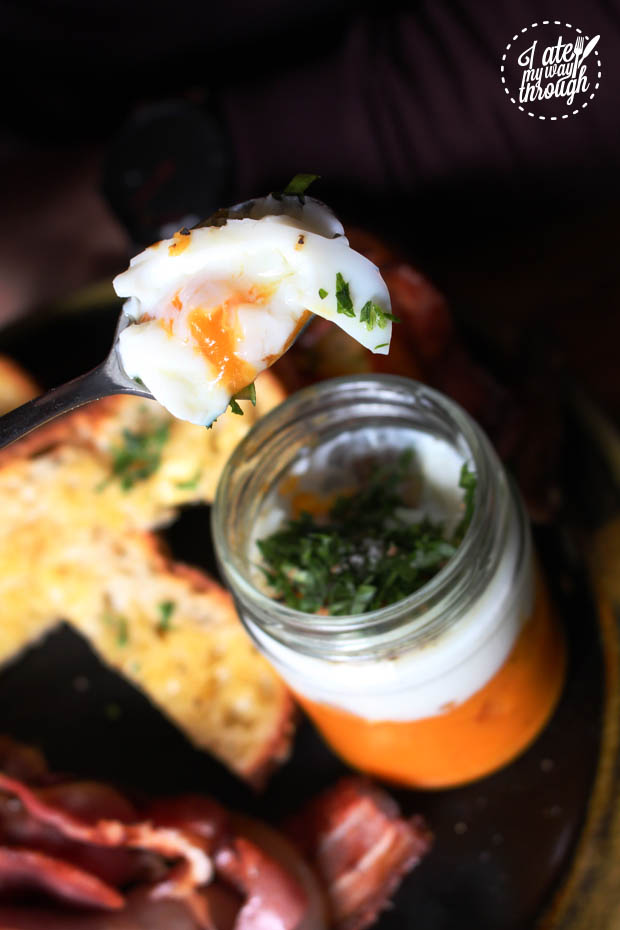 Coddled Egg close up