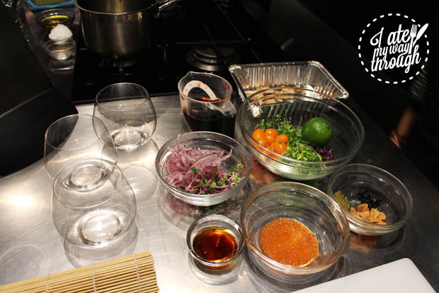 Ingredients for Japanese salads
