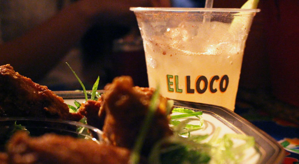 El Loco Apple Pie Margarita and Fried Chicken