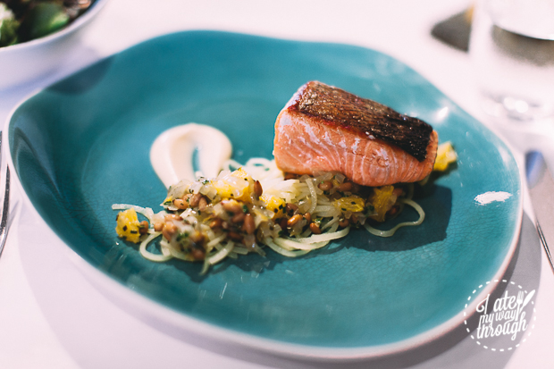 Seared King Salmon, The Devonshire