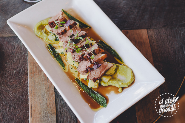 Firefly - Roasted Lamb Rump - Crushed Minted Potato Pea Puree