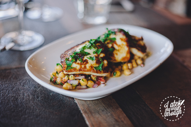 Grilled Haloumi - Warm Chickpea Salad Lemon Dressing Firefly