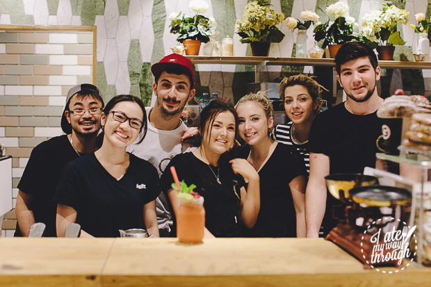 The Vogue Cafe staff