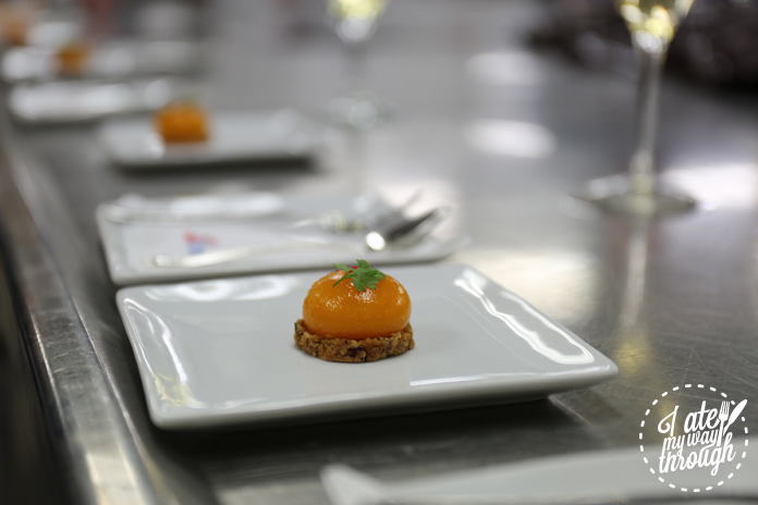Canapes inside the main galley of Empire Restaurant