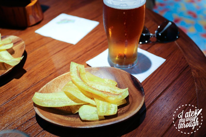 Plantain chips at Red Frog Pub