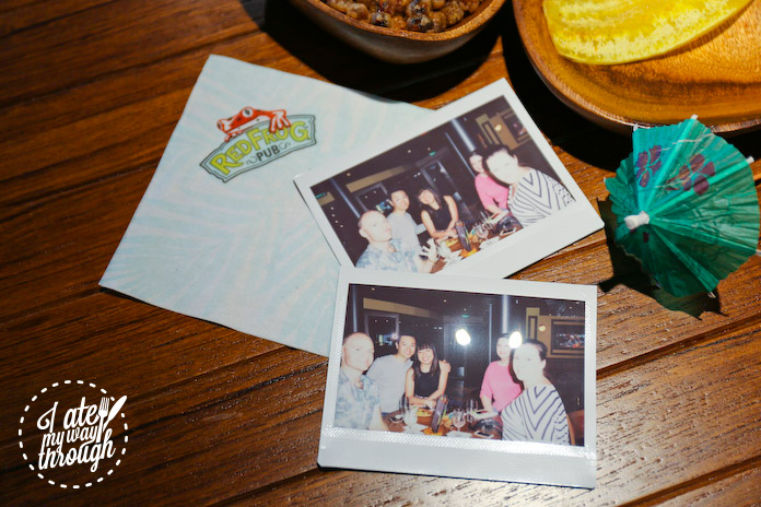 Polaroid photo with people we met on the cruise