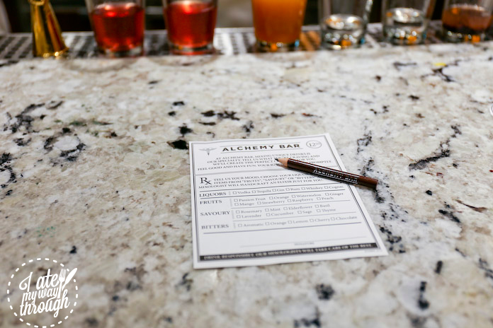 Pick the drink to your liking at Alchemy Bar