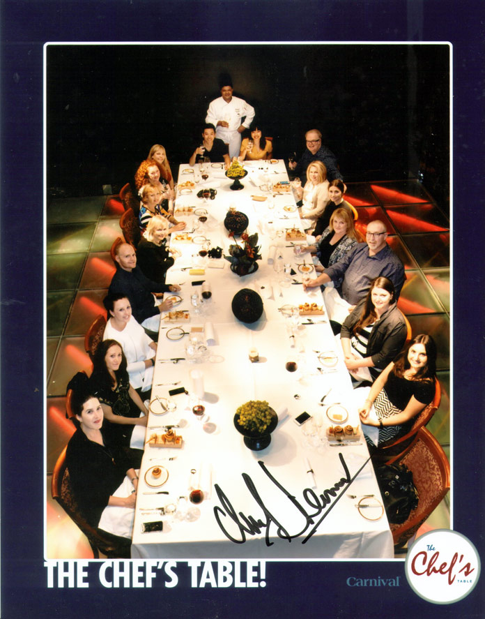 Group photo at The Chef's Table