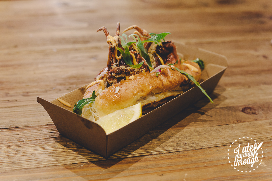 Johnny Lobster, Soft Shell Crab Roll, Seafood