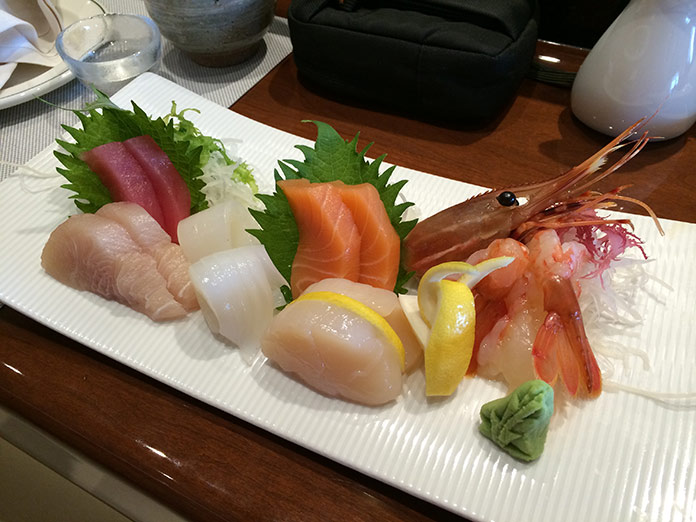 Sashimi at Kai Sushi (Image Source: Princess Cruises)