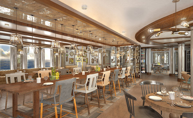 Concept image of SHARE Restaurant onboard Ruby & Emerald Princess (Image Source: Princess Cruises)