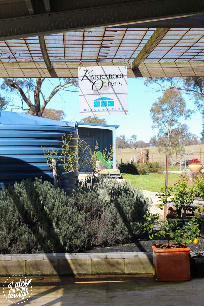Karrabool Olives logo and sign