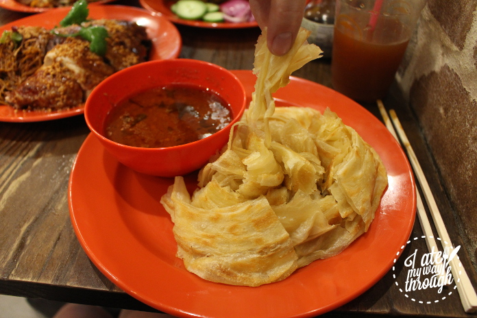 Roti Kosong served with curry sauce ($8.80