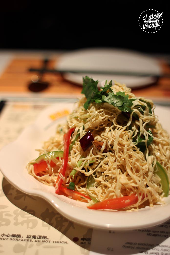 simmer huang, spicy tofu noodles, entree