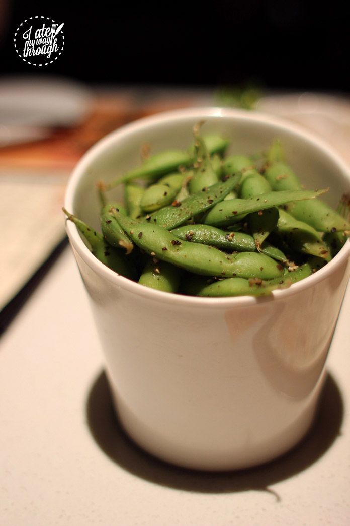 simmer huang, edamame beans, entree