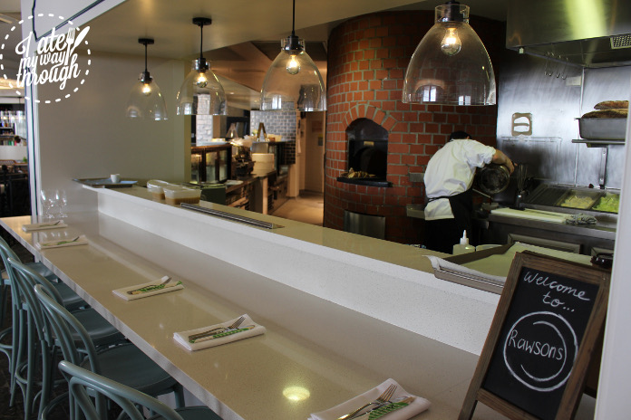 Newly opened Rawsons boasting a top notch kitchen that overlooks the restaurant