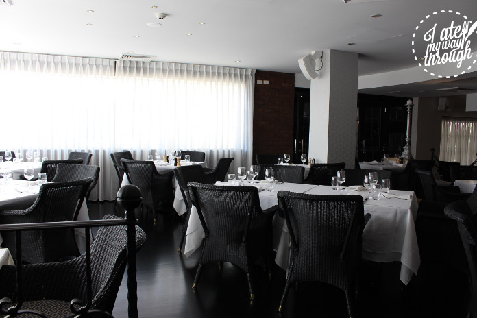 The restaurant is classy and simple, flooded with natural light for a leisurely lunch