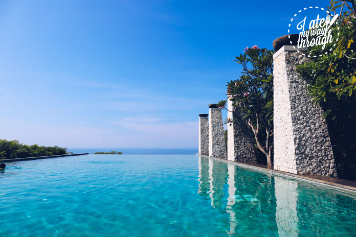 The infinity pool at Banyan Tree Ungasan Bali