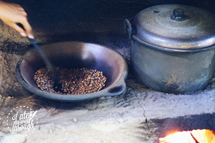 Roasting luwak coffee