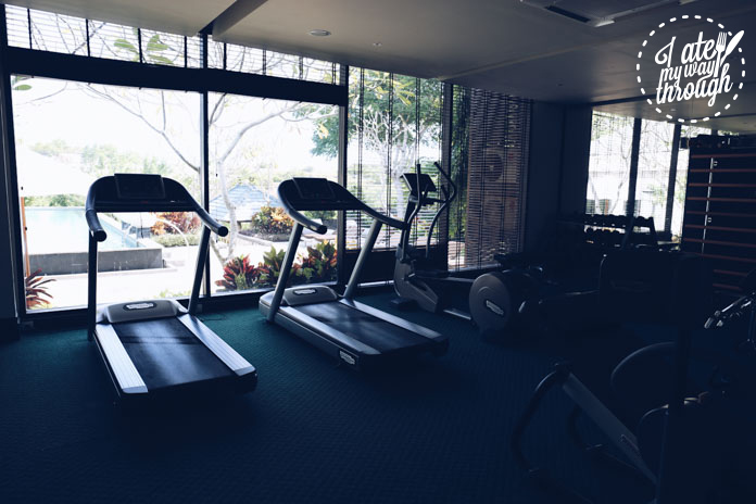 The resort also hasa fitness facility for those not lucky enough to stay in the Presidential Villa