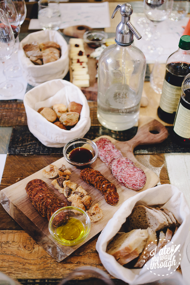 wine, taste hungary, food tour, wine tastingtasting table, taste hungary, winery, wine shop, budapest, food tour, cheese, salami, meat platter