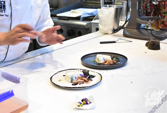 BlackStar Pastry's Christopher Thé plating up his newest creation