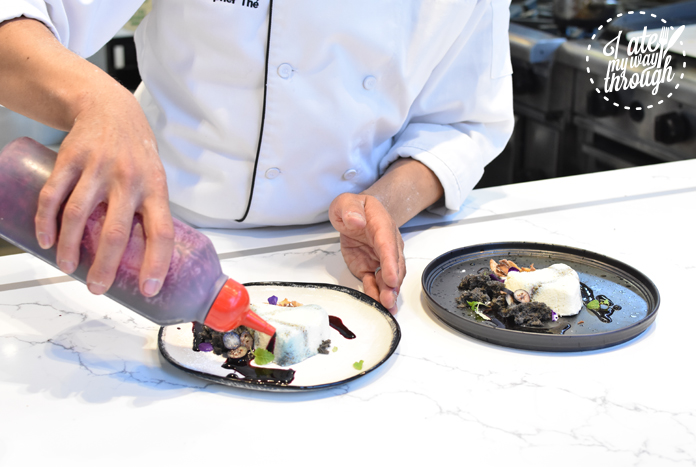 BlackStar Pastry's Christopher Thé adding final touches to his new dessert