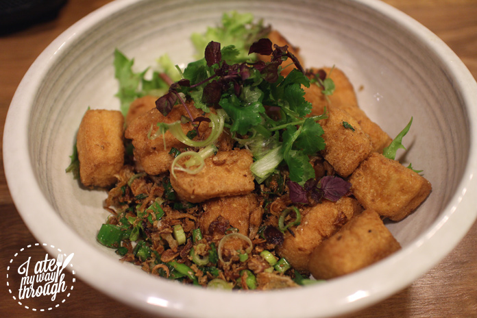 Upperroom Resto Cafe's homemade salt and pepper tofu