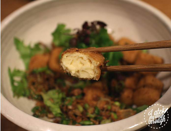 Inside Upperroom Resto Cafe's homemade salt and pepper tofu