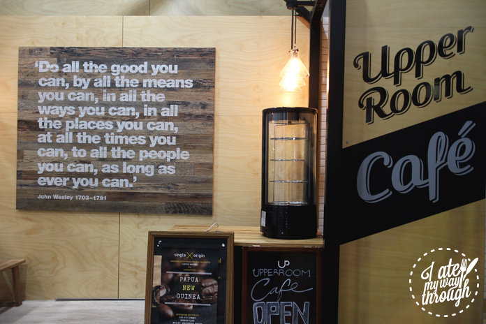 Sinage and a quote at Upperroom Resto Cafe