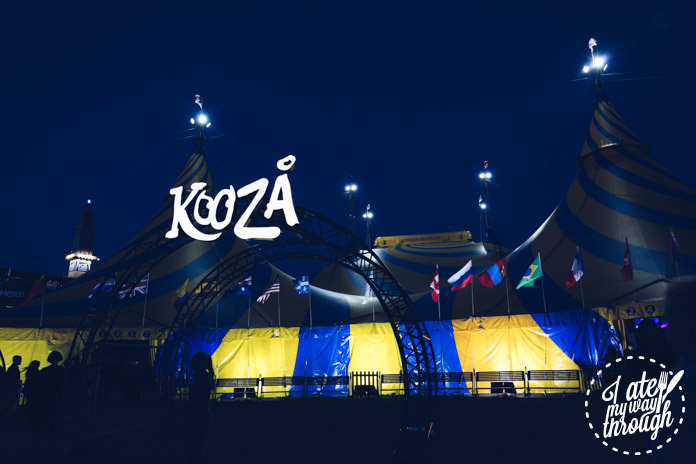 The KOOZA entrance tent and the Big Top