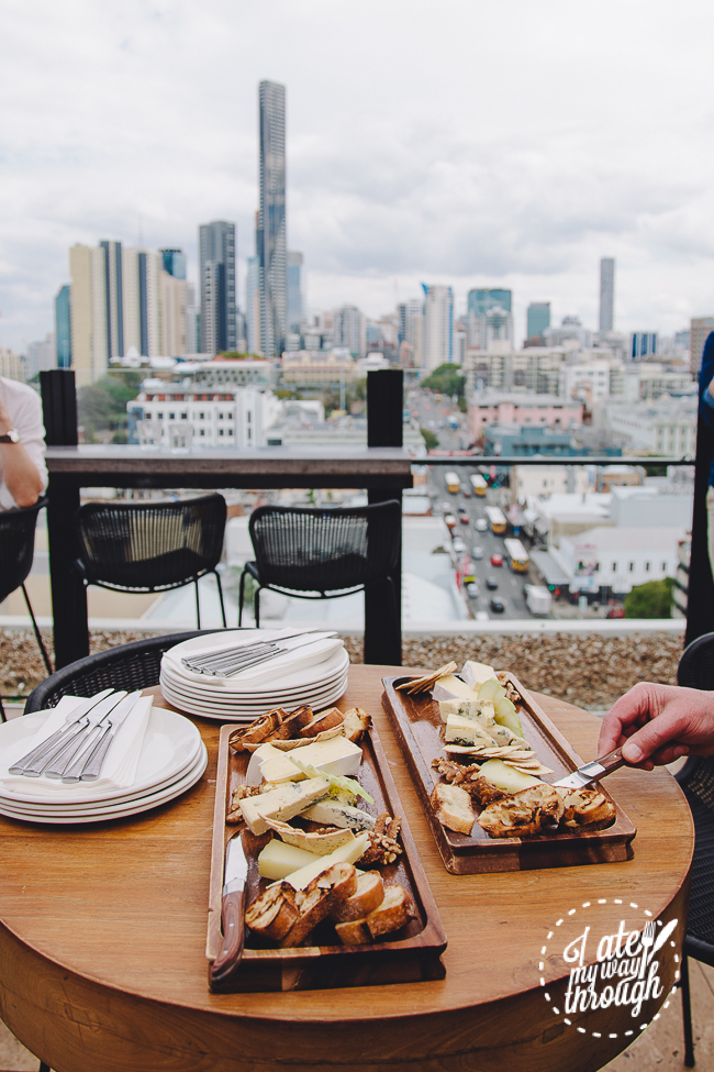 Eleven Rooftop Bar, Fortitude Valley, decor, airtrain, airtrain QLD, interior decor, restaurant, cheese platter, daily cheese selection