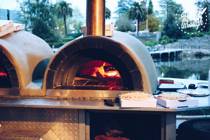 Wood-fired pizza at Flour+Water