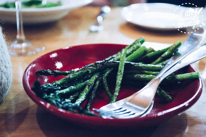 Chargrilled local asparagus